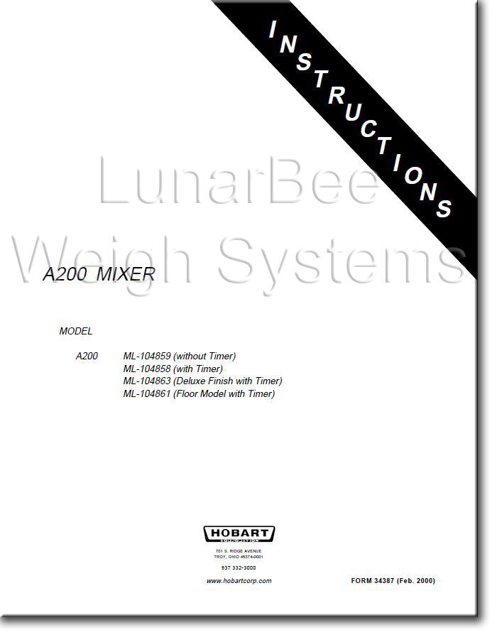 Hobart service Technicians manual
