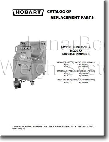 Hobart D300 Mixer Repair Manual