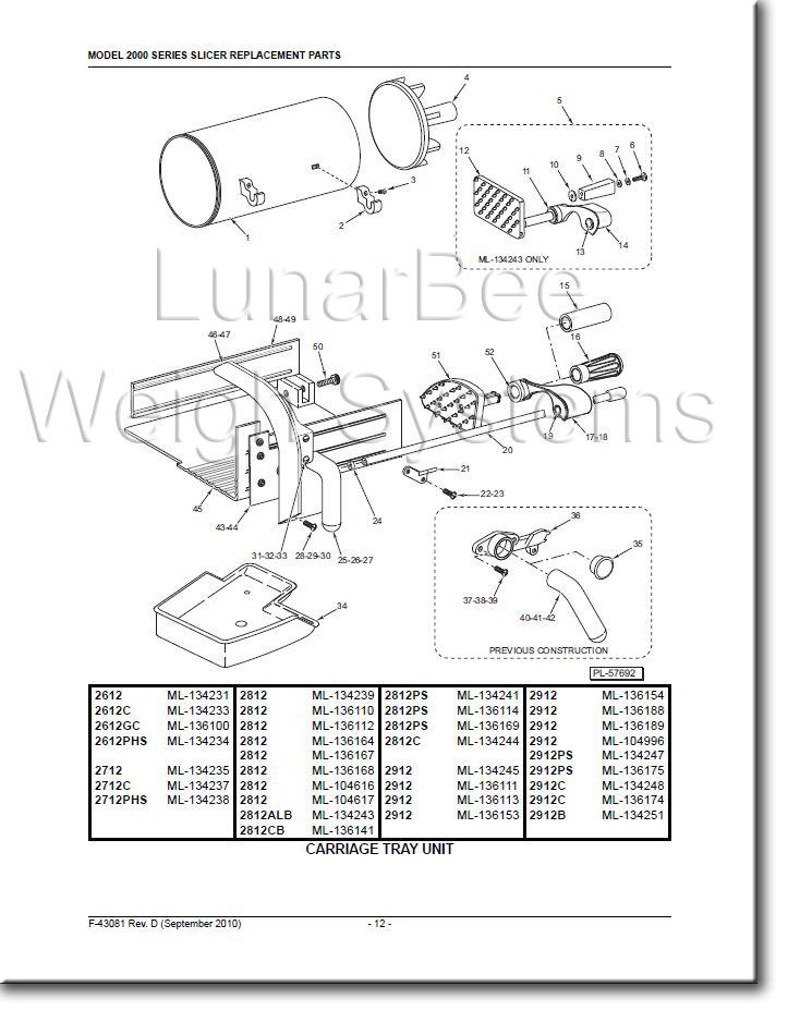 Details About Hobart 2812 2912 Slicer User Instruction And Parts Manuals