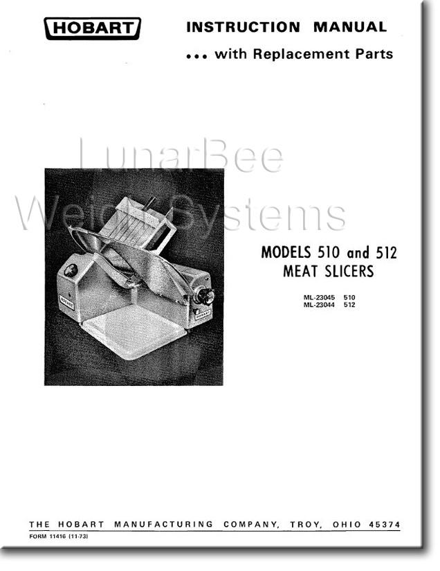 Hobart Slicer Service Manual 512