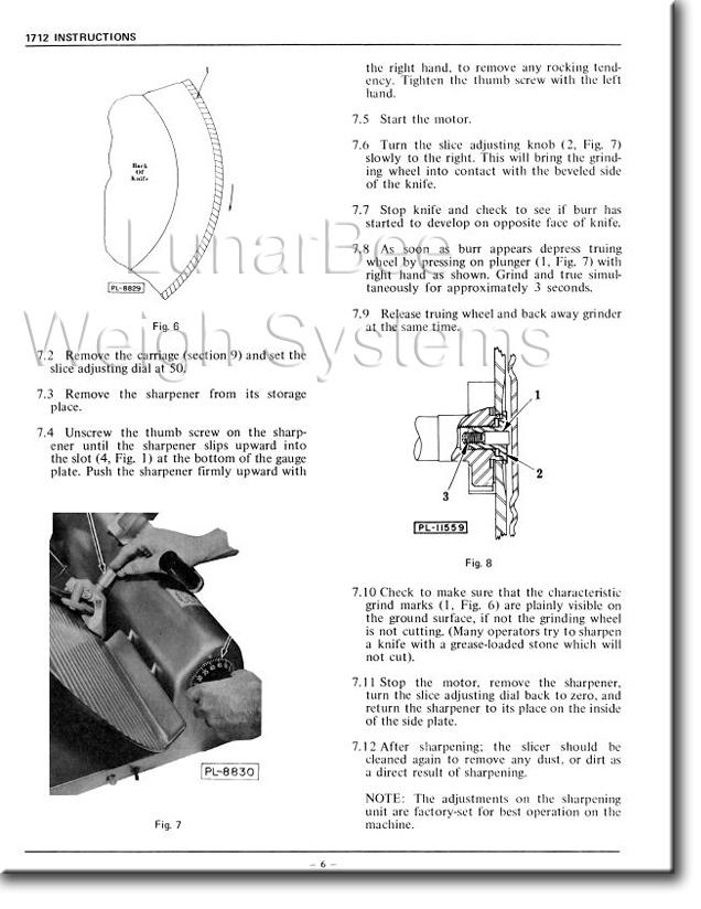 Hobart slicer User manual