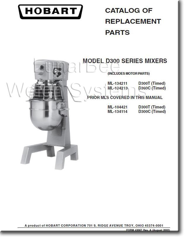 Service Manual hobart Mixer d300